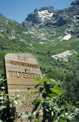 Gray Jay Press- Ruby Mountains Wilderness sign